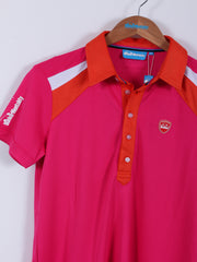 Short Sleeve Polo Shirt (Sample) - Hot Pink - Extra Small