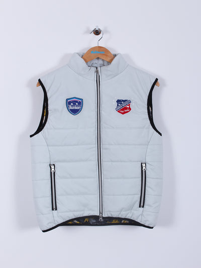 Quilted Gilet (Sample) - White - Medium
