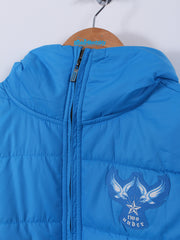 Reversible Quilted Gilet (Sample) - Blue/Grey - Medium