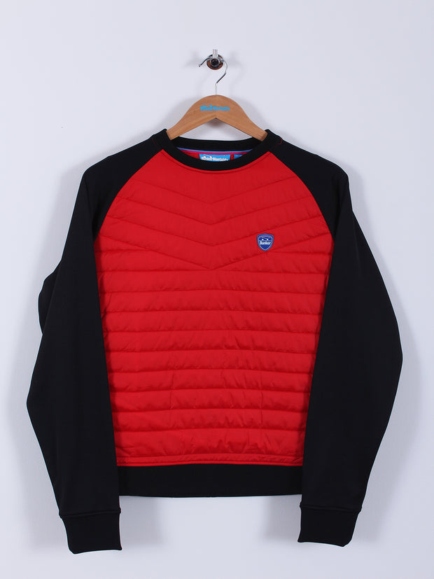 Quilted Pullover Top (Sample) - Red/Black - Medium