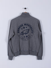 Bunker Logo Zipper Jacket (Sample) - Grey - Medium