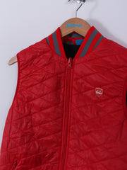 Bunker Stripe Collar Gilet (Sample) - Red - Medium