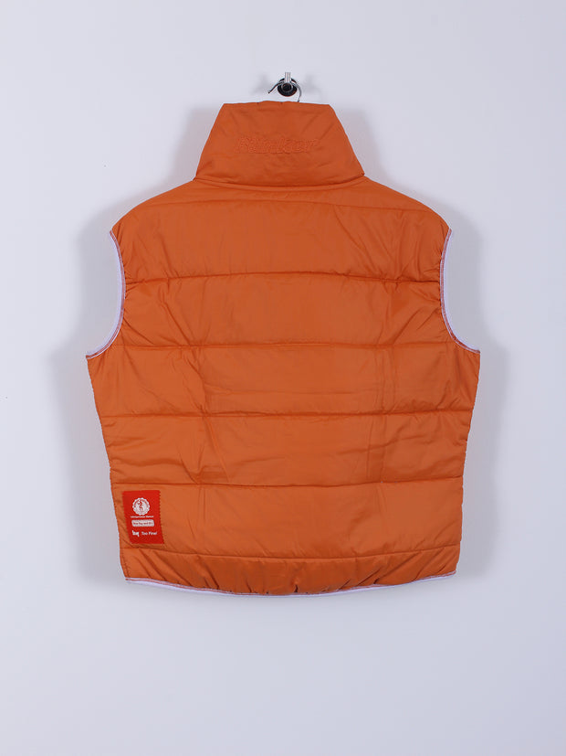 Reversible Quilted Gilet (Sample) - Orange/Grey - Medium