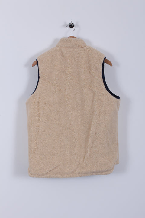 Reversible Fleece Gilet (Sample) - Navy/Cream - Medium