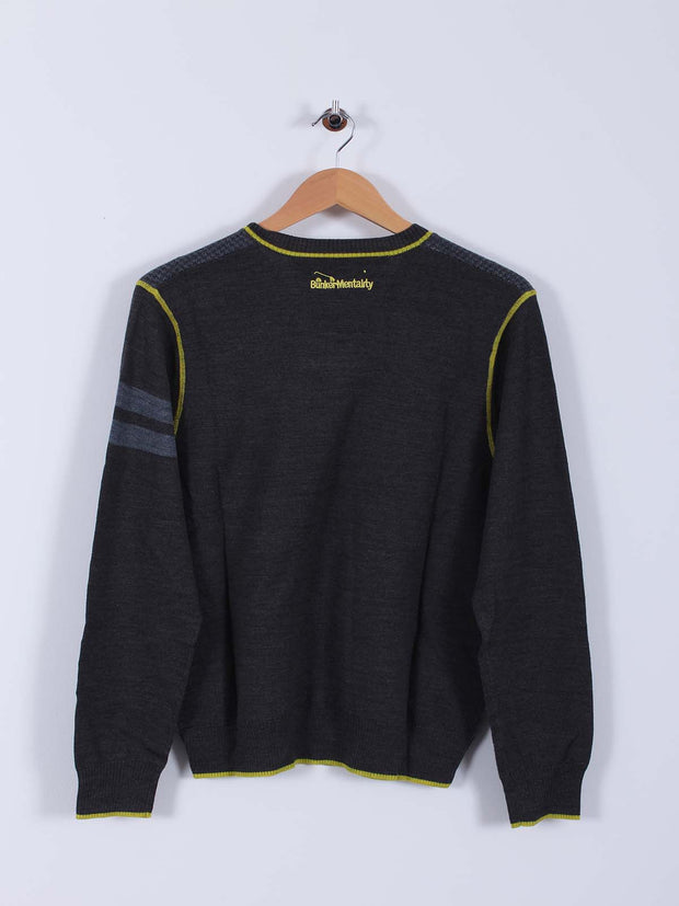 Bunker Knitted Sweater (Sample) - Grey/Yellow - Multiple Sizes