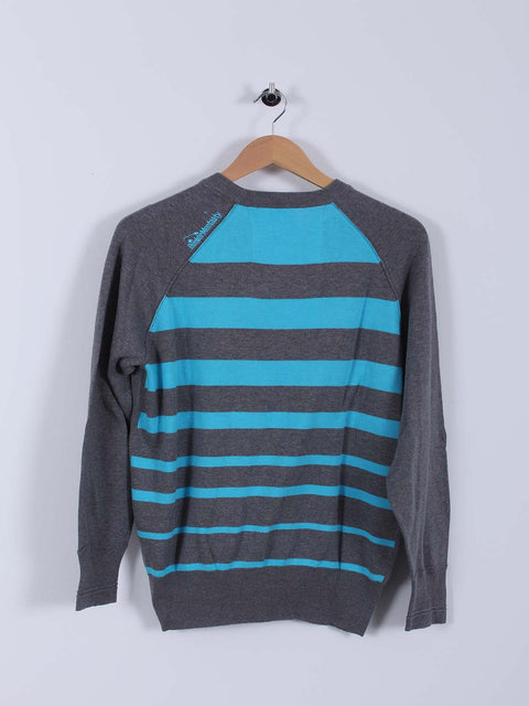 Bunker Stripe Sweater (Sample) - Grey/Blue - Multiple Sizes