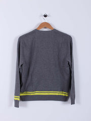 Bunker Logo Sweater (Sample) - Grey/Yellow - Multiple Sizes