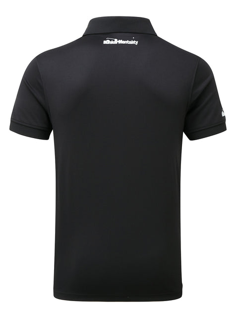 Bunker Mentality Cmax Black Golf Shirt with Patch Pocket - Back