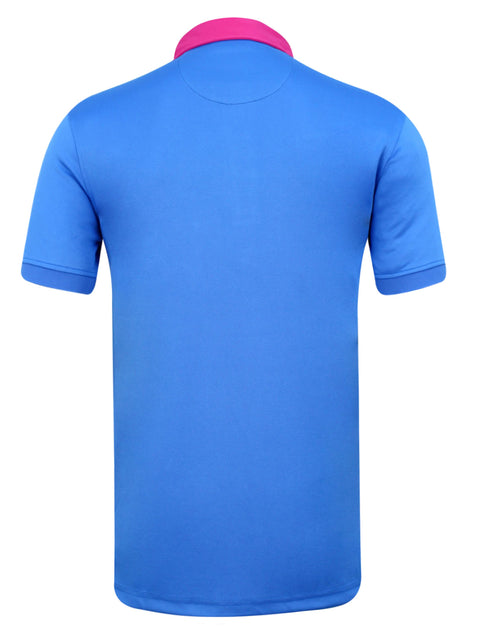 Bunker Mentality Kruze Blue Mens Golf Polo Shirt - Back