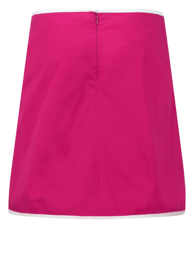 Queen of the Green Pink Womens Golf Skort - Back