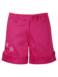 Queen of the Green Pink Womens Golf Shorts