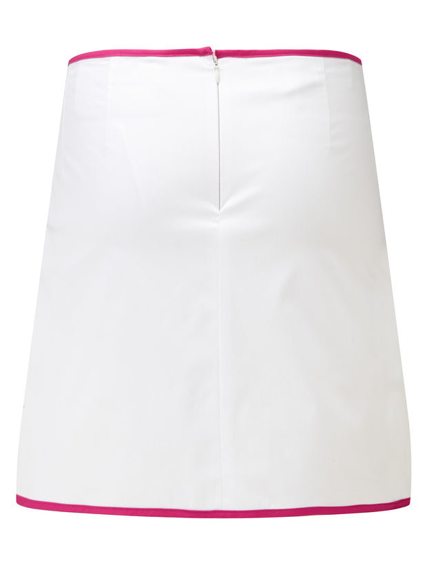 Queen of the Green White Womens Golf Skort - Back