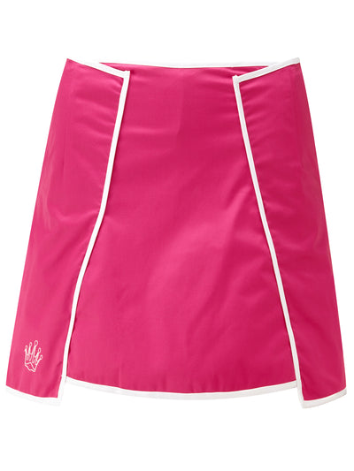 Queen of the Green Pink Womens Golf Skort - Front