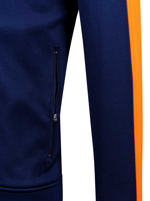 The Range Zipper - Golf Mid Layer - Navy & Orange