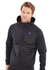 Puffer Caddy Tech Hoodie Wind Jacket - Black/Electric Blue