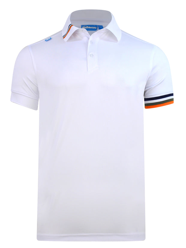 Cmax Kobi Solid Golf Polo Shirt - White
