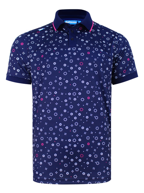 Cmax Tora Tech Golf Polo Shirt - Navy
