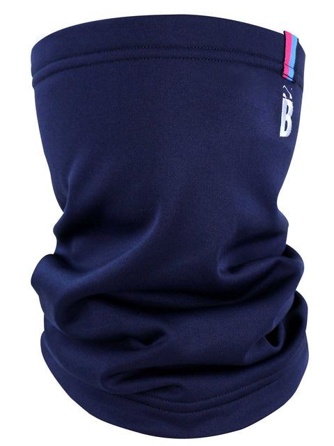 Bunker Mentality Mens Navy Golf Snood with embroidered B at top