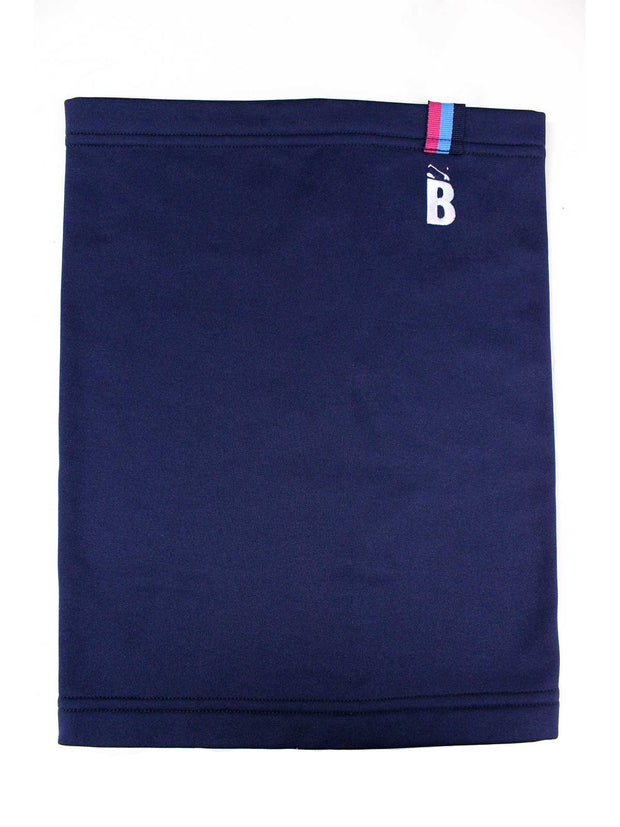 Bunker Mentality Navy Thermal Warmth Golf Snood with B embroidered on top left - Front