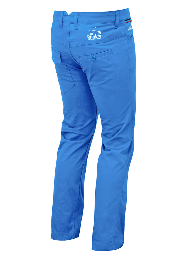 Bunker Mentality Baxter Bunker Blue Mens Golf Trousers - Back