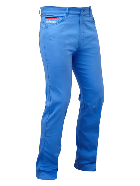 Bunker Mentality Baxter Bunker Blue Mens Golf Trousers - Front