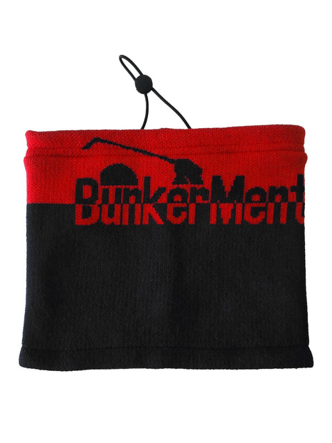 Bunker Mentality Mens Black Red Golf Snood with Pull Cord