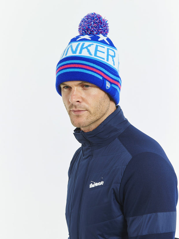 Stars & Stripes Golf Bobble Hat - Blue