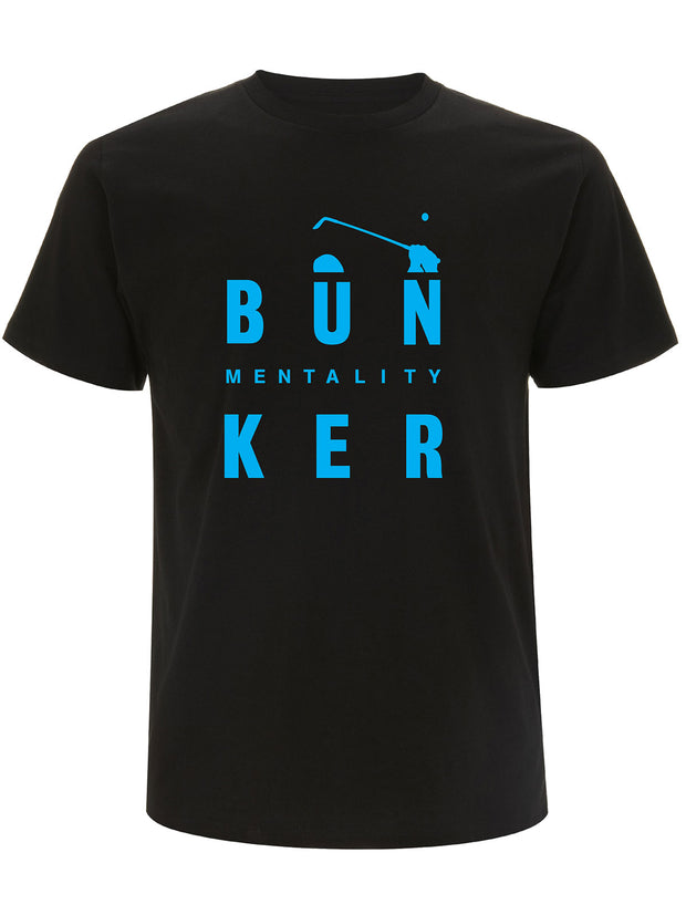 Bunker Mentality Bun-Ker Graphic Print Black Cotton Golf T Shirt