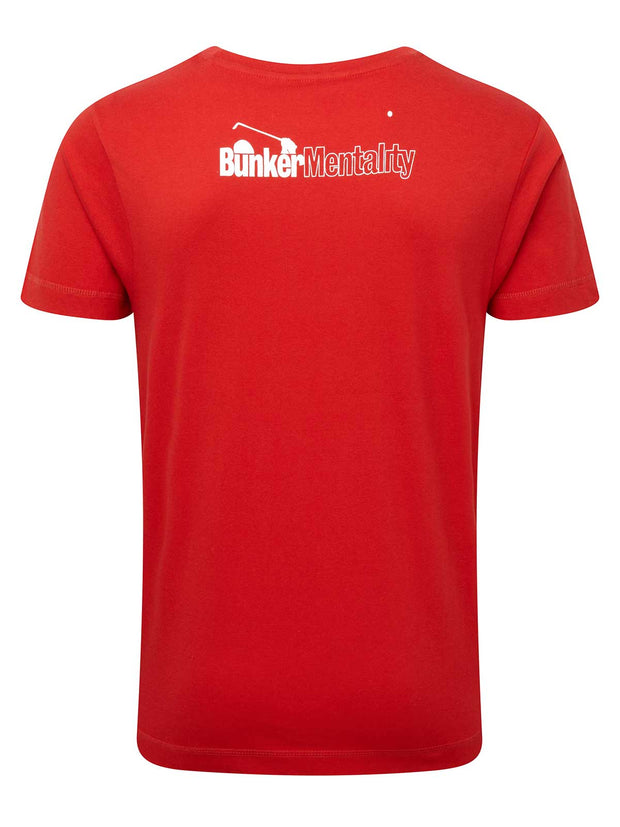 Bun-Ker Golf T Shirt - Red
