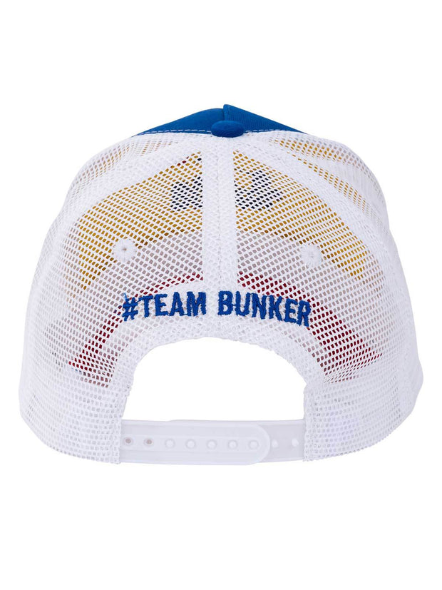Bunker Mentality Bunker B Trucker Golf Cap - Blue Front with Red B - Back