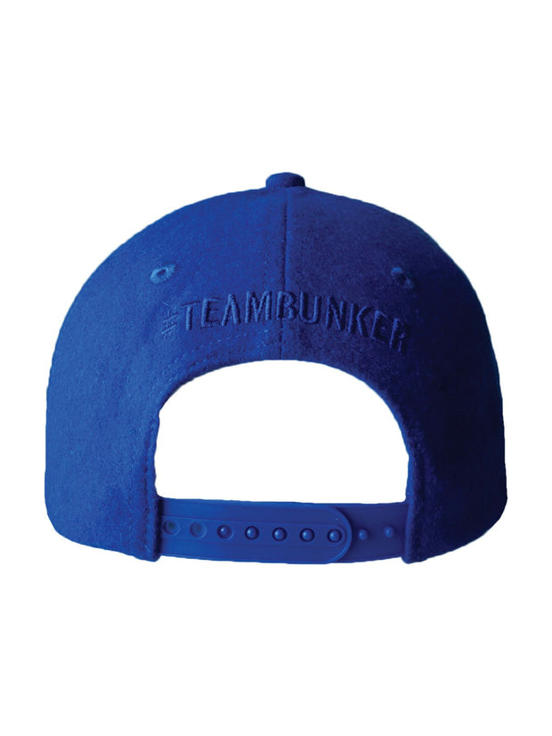 Bunker Mentality Blue Wool Golf Cap - Back