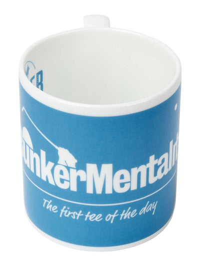 Bunker Mentality First Tee of the Day Blue China Mug