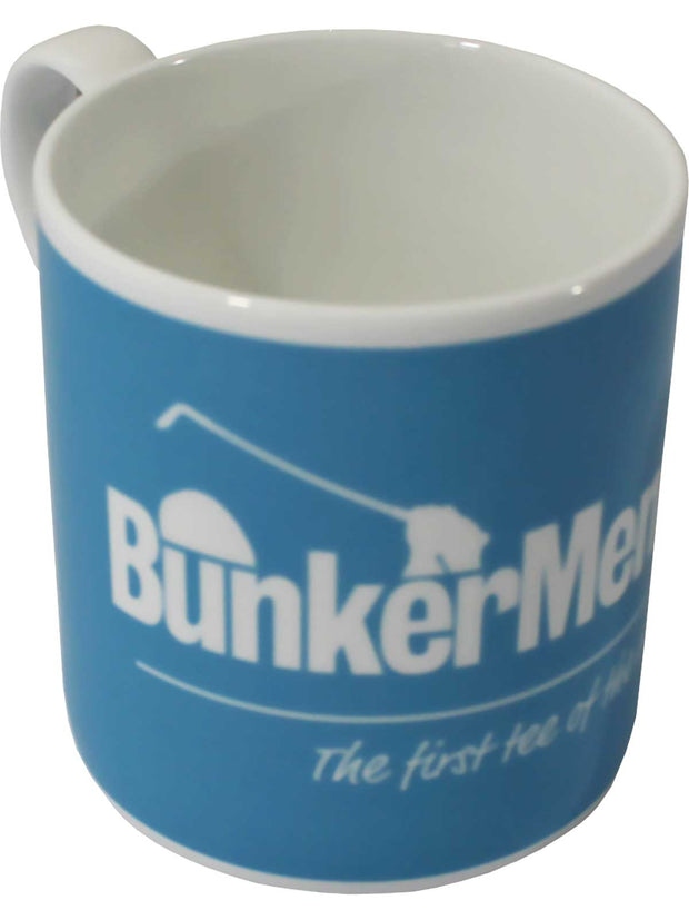 Bunker Mentality First Tee of the Day Blue China Mug Logo