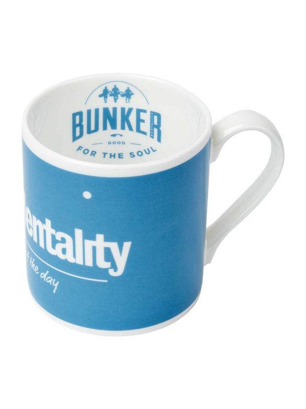 Bunker Mentality First Tee of the Day Blue golf gift present China Mug - Side
