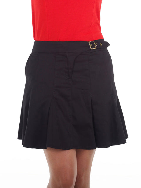 Queen of the Green Black Golf Skort with Buckle Detail