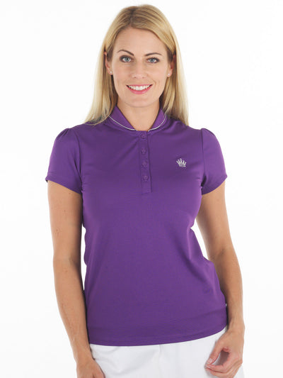 Queen of the Green Purple Womens Golf Polo Shirt