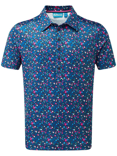 Cmax Floral Golf Polo Shirt - Navy