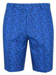 Bunker Mentality Kade Electric Blue Printed Paisley Pattern Mens Golf Shorts - Front
