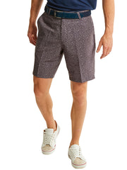 Bunker Mentality Kade Grey Printed Paisley Pattern Mens Golf Shorts - Model