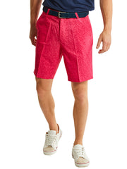 Bunker Mentality Kade Pink Printed Paisley Pattern Mens Golf Shorts - Model