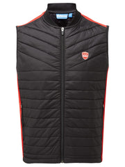 Bunker Mentality Black Kai Clo Insulated Thermal Padded Mens Golf Wind Gilet - Front