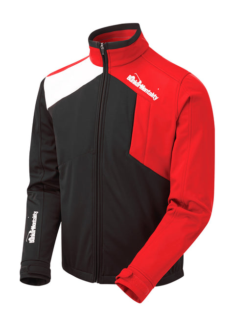 Bunker Mentality Mancia Black Red Mens Windproof Golf Jacket - Side