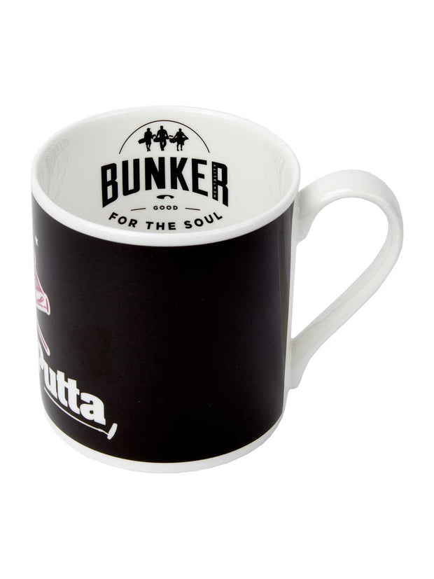 Bunker Mentality Bad Mutha Putta Black China Mug Side Logo