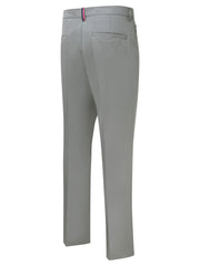 Bunker Mentality Nino Grey Polyester Lightweight Mens Golf Trousers - Back