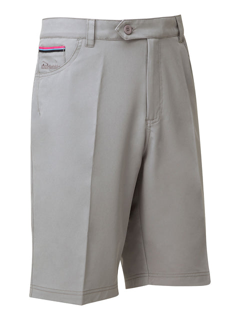 Bunker Mentality Nino Polyester Grey Mens Golf Shorts