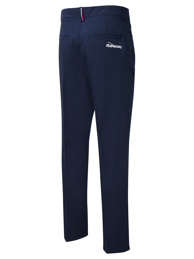 Bunker Mentality Nino Navy Polyester Mens Golf Trousers - Back