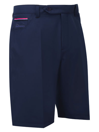 Bunker Mentality Nino Polyester Navy Mens Golf Shorts - Front