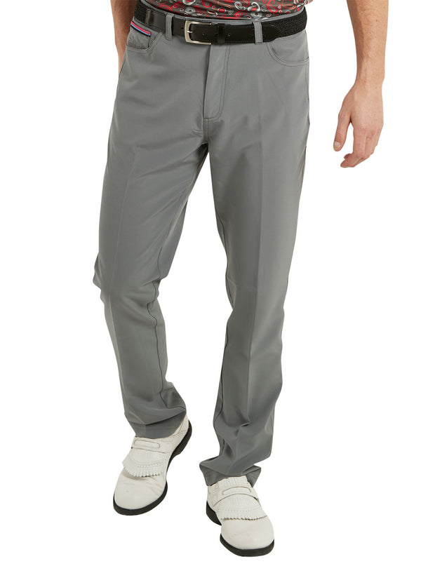 Bunker Mentality Nino Grey Mens Golf Trousers - model