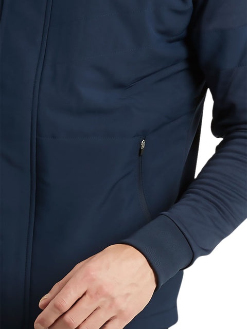 Bunker Mentality Navy Full Zip Mens Wind Proof Golf Jacket - Cuffs