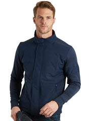 Bunker Mentality Navy Full Zip Mens Wind Proof Golf Jacket - Model